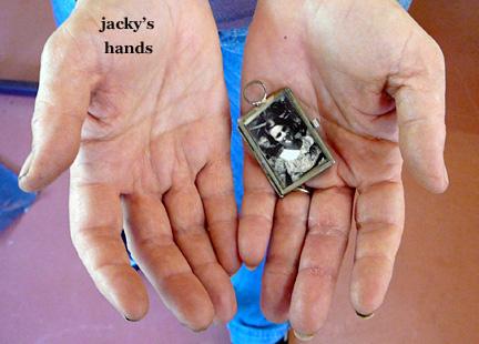Hands of jacky