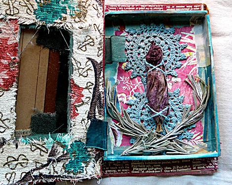 Treasure book shadow box interior