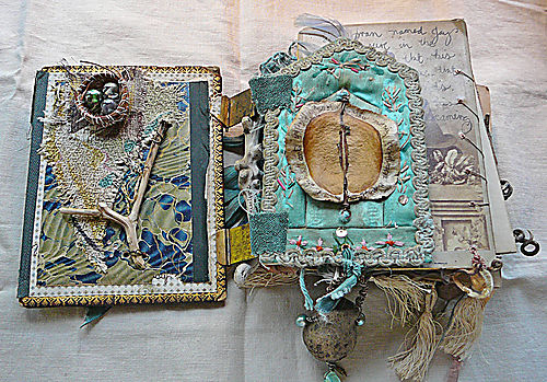 Treasure book first page with mandy's nest