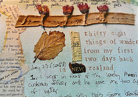 Journal with flowers from labyrinth cropped