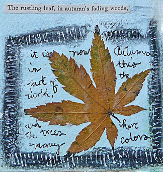 Journal rustling leaf page