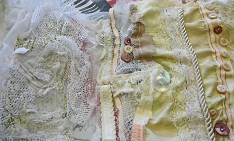 Megan's corset detail