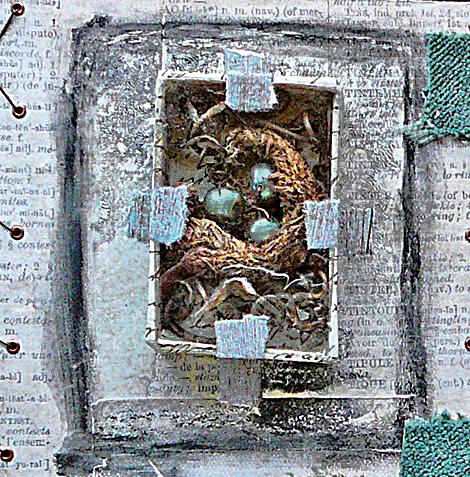 Gum nut nest for orn