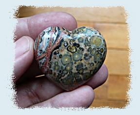 Mookaite heart from keron lee