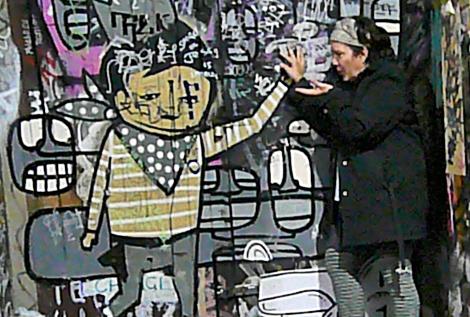 Nina with graffitti 1
