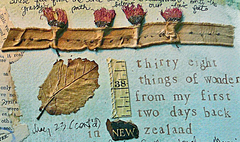 Journal with flowers from labyrinth
