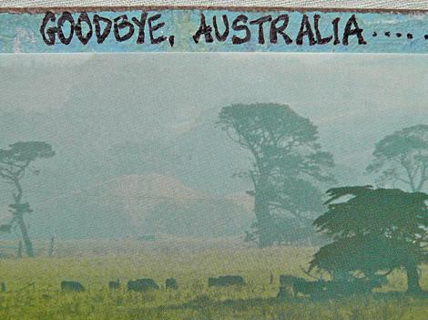 Journal page goodbye australia