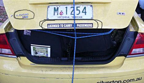 Taxi ride in melbourne