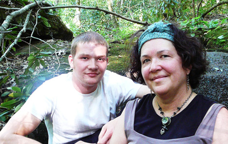 At the falls with roy