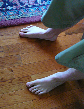 Roy's feet