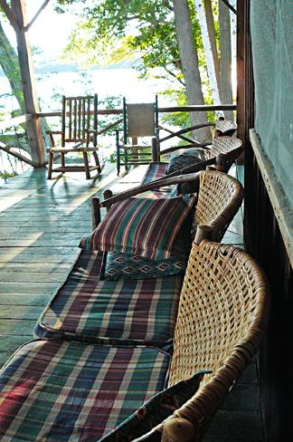 Longhouse side porch