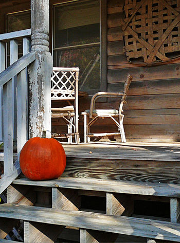 Front porch pumpkin