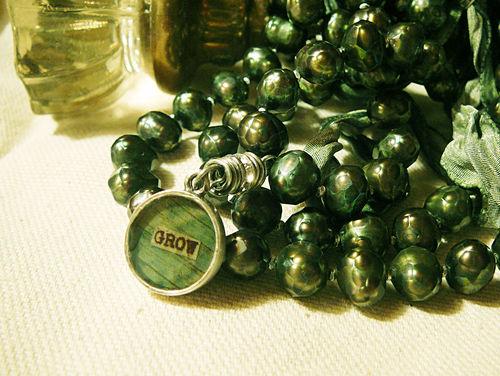 Grow mala necklace with doorknob
