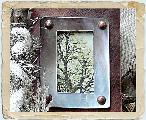 Winter spirit framed tree