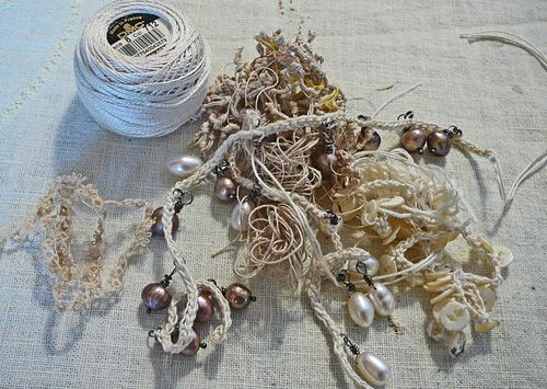 Crocheted pearls