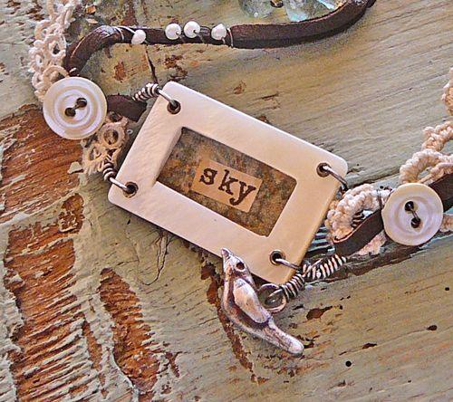 Sky bird bracelet detail