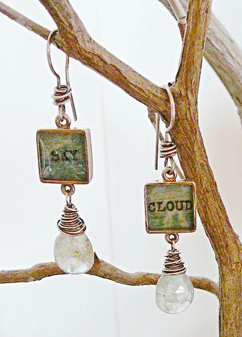 Cloud sky earrings