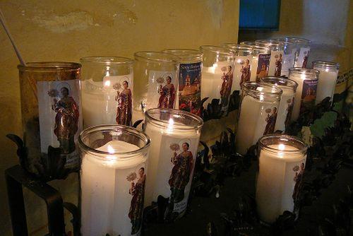 Santa barbara mission candles