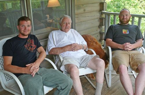 The boys on daddy's 87th birthday