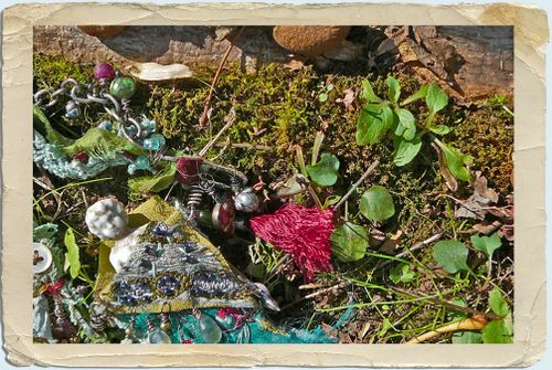 Gypsy fairy necklace in the woods