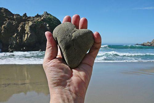 Pfeiffer beach heart rock