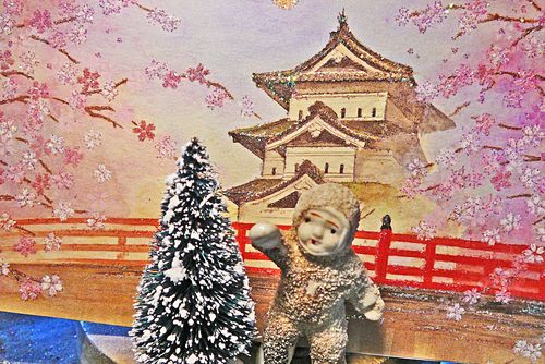 Snow baby in japan