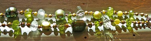 Beads soft as dew