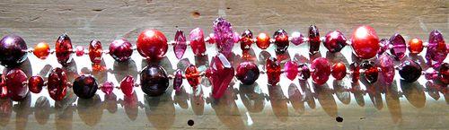 Beads pensive beauty