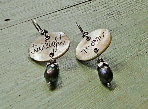 Twilight moon earrings