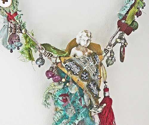 Gypsy fairy necklace detail 1