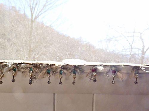 Ornaments on ledge