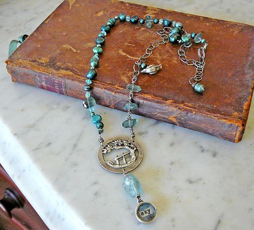 Tree and sky necklace 1