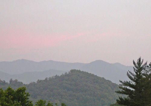Pink light after rain