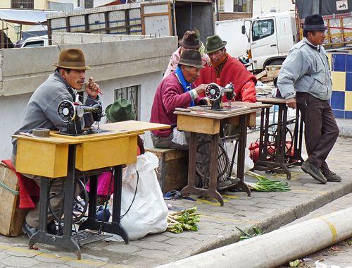 Zumbahua market tailors