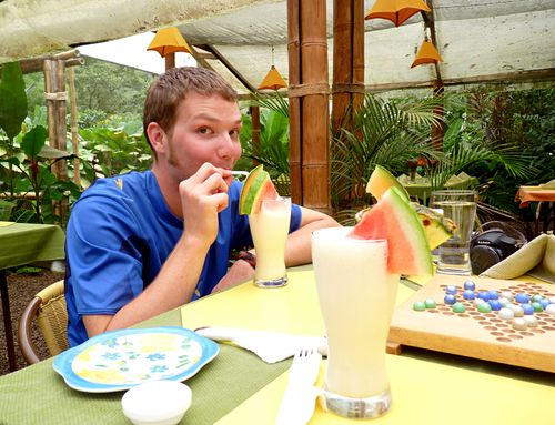 Mindo butterfly house lunch