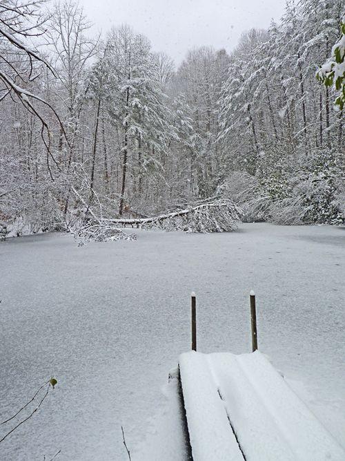 Snow pond 1