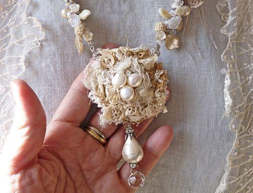 Snow queen's nest in hand