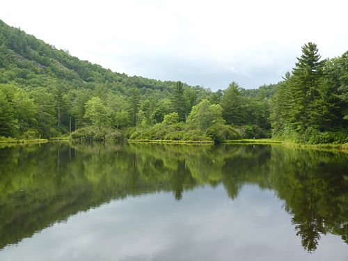 Panthertown lake outside of entrance
