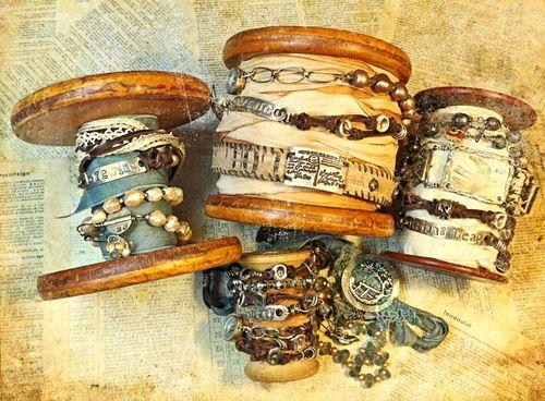 Wrapped spools ornamental