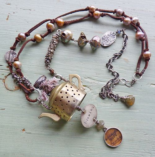 Hope in a teapot necklace