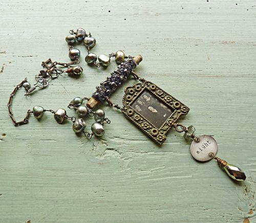 Jewelry necklace night