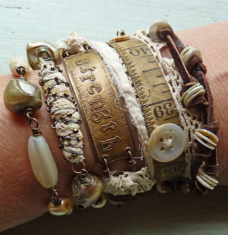 Jewelry wrap strength on wrist