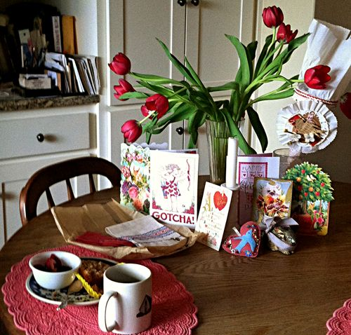 Valentine breakfast with mama