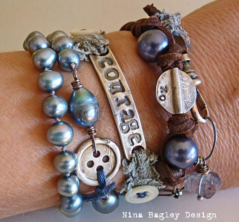 Courage wrap on wrist Nina Bagley
