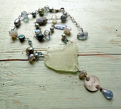 Found river heart on table