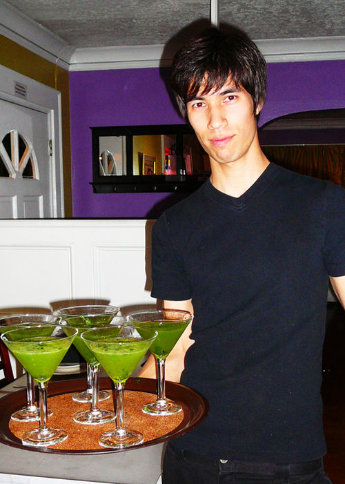 Michael and basil martinis