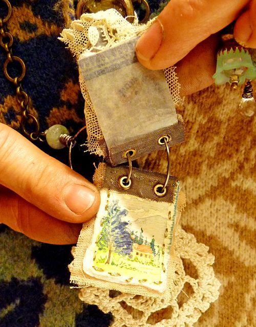 Workshop necklace - julie's watercolor page