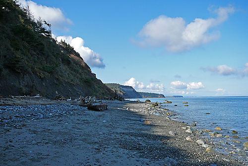 Distant glass beach