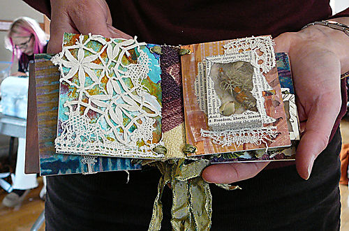 Wee book with lace