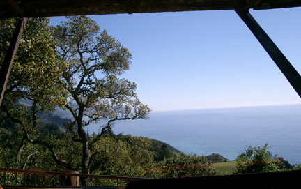Lunch table view, Nepenthe, Big Sur